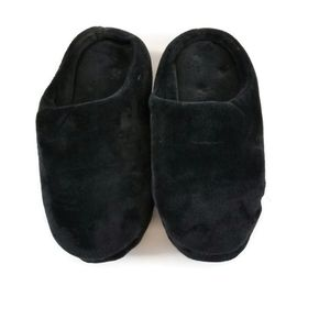 🌷Dearfoams Black Plush Thick Cushion Slippers XL